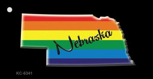Nebraska Rainbow State Wholesale Novelty Key Chain