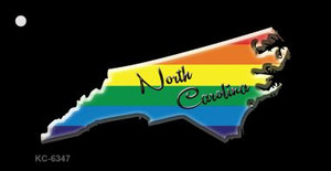 North Carolina Rainbow State Wholesale Novelty Key Chain