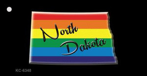 North Dakota Rainbow State Wholesale Novelty Key Chain