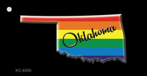 Oklahoma Rainbow State Wholesale Novelty Key Chain