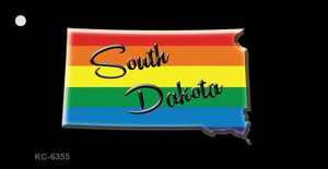 South Dakota Rainbow State Wholesale Novelty Key Chain