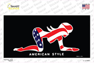 American Style Sexy Flag Pose Wholesale Novelty Sticker Decal