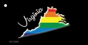 Virginia Rainbow State Wholesale Novelty Key Chain