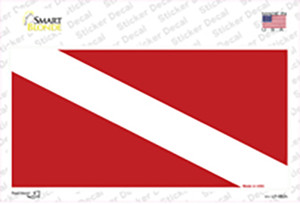 Diving Flag Wholesale Novelty Sticker Decal