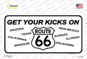 Get Your Kicks On 66 Wholesale Novelty Sticker Decal