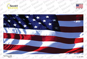 American Flag Wavy Wholesale Novelty Sticker Decal