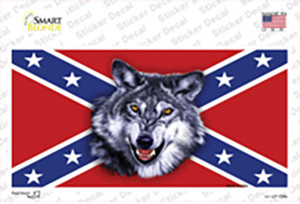 Confederate Flag Wolf Head Wholesale Novelty Sticker Decal
