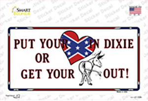 Heart In Dixie Wholesale Novelty Sticker Decal