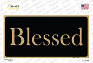 Blessed Gold Wholesale Novelty Sticker Decal