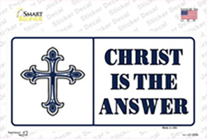 Christ Is The Answer Vanity Wholesale Novelty Sticker Decal