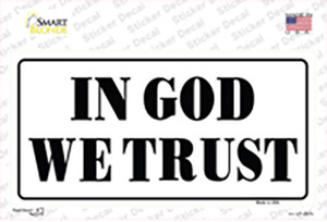 In God We Trust White Wholesale Novelty Sticker Decal