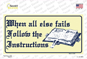 Follow Instructions Wholesale Novelty Sticker Decal
