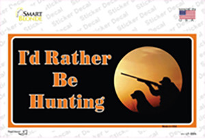 Id Rather Be Hunting Wholesale Novelty Sticker Decal