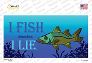 I Fish Therefore I Lie Wholesale Novelty Sticker Decal
