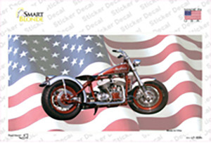 Indian Motorcycle American Flag Wholesale Novelty Sticker Decal