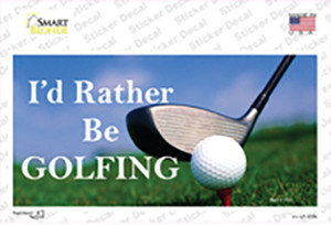 Rather Be Golfing Wholesale Novelty Sticker Decal