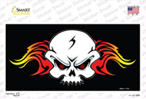 Skull Flame Wholesale Novelty Sticker Decal
