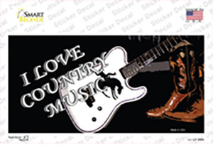 I Love Country Music Wholesale Novelty Sticker Decal