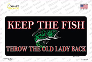 Keep the Fish Wholesale Novelty Sticker Decal