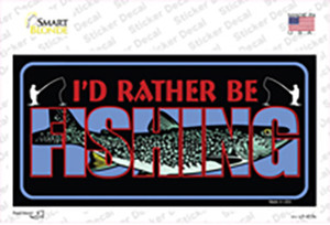 Rather Be Fishing Wholesale Novelty Sticker Decal