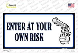 Enter At Own Risk Wholesale Novelty Sticker Decal