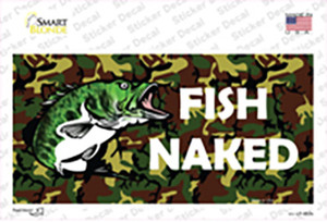 Fish Naked Wholesale Novelty Sticker Decal