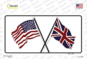 United States Britain Crossed Flags Wholesale Novelty Sticker Decal
