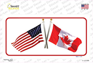United States Canadian Flag Wholesale Novelty Sticker Decal