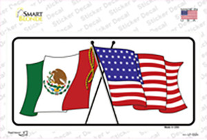 United States Mexico Flag Wholesale Novelty Sticker Decal