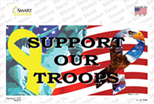 Support Our Troops Ribbon Wholesale Novelty Sticker Decal