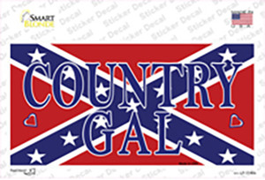 Confederate Country Gal Wholesale Novelty Sticker Decal