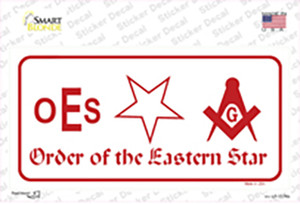 Order Of The Eastern Star Wholesale Novelty Sticker Decal