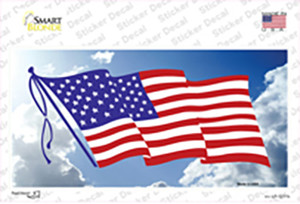 American Flag Cloud Wholesale Novelty Sticker Decal