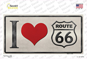 I Love Route 66 Wholesale Novelty Sticker Decal
