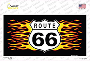Route 66 Flames Wholesale Novelty Sticker Decal