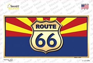 Route 66 Arizona State Flag Wholesale Novelty Sticker Decal