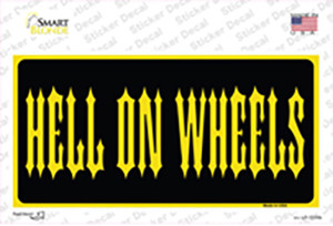 Hell On Wheels Wholesale Novelty Sticker Decal