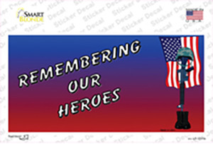 Remembering Our Heroes Wholesale Novelty Sticker Decal