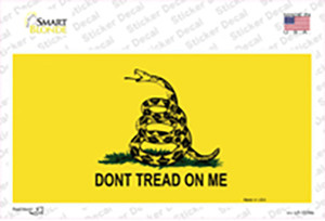 Dont Tread On Me Yellow Wholesale Novelty Sticker Decal