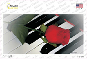 Piano Key Red Rose Wholesale Novelty Sticker Decal