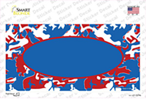 Patriotic Camouflage With Blue Center Oval Wholesale Novelty Sticker Decal