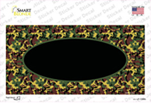 Green Camo Oval With Black Oval Center Wholesale Novelty Sticker Decal