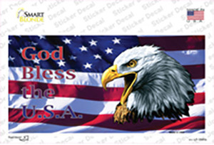 God Bless The USA Eagle Wholesale Novelty Sticker Decal