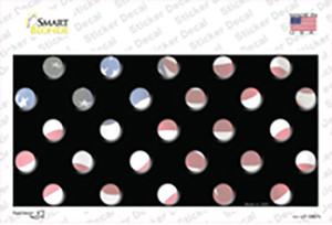 American Flag Polka Dots Wholesale Novelty Sticker Decal