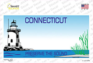 Connecticut State Blank Wholesale Novelty Sticker Decal