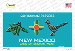 Green Chili & Road Runner New Mexico Wholesale Novelty Sticker Decal