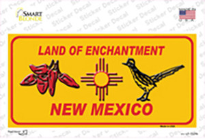 Red Chili & Road Runner Yellow New Mexico Wholesale Novelty Sticker Decal