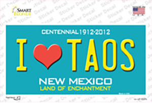 I Love Taos New Mexico Wholesale Novelty Sticker Decal