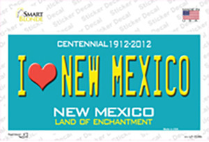 I Love New Mexico Wholesale Novelty Sticker Decal