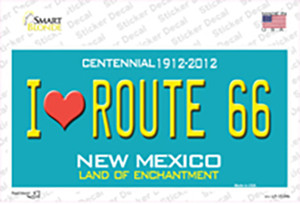 I Love Route 66 New Mexico Wholesale Novelty Sticker Decal